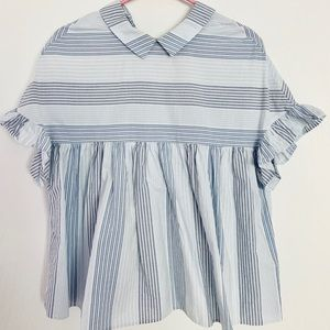 Zara babydoll shirt